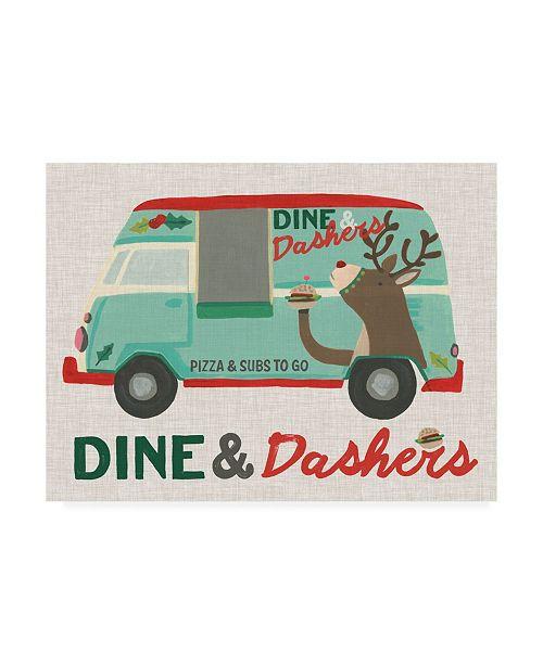 "Trademark Global June Erica Vess Food Truck Holidays I Canvas Art - 27"" x 33.5"""