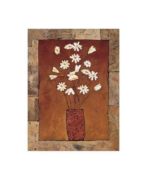 "Trademark Global Judi Bagnato Blooms in Border IV Canvas Art - 27"" x 33.5"""