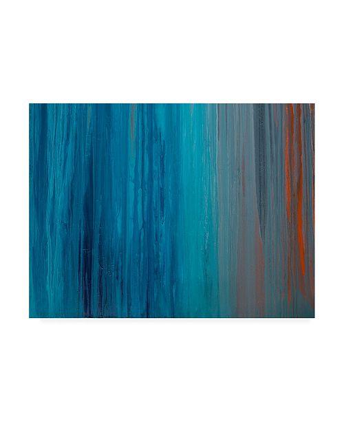 "Trademark Global Teodora Guererra Drenched in Teal II Canvas Art - 27"" x 33.5"""
