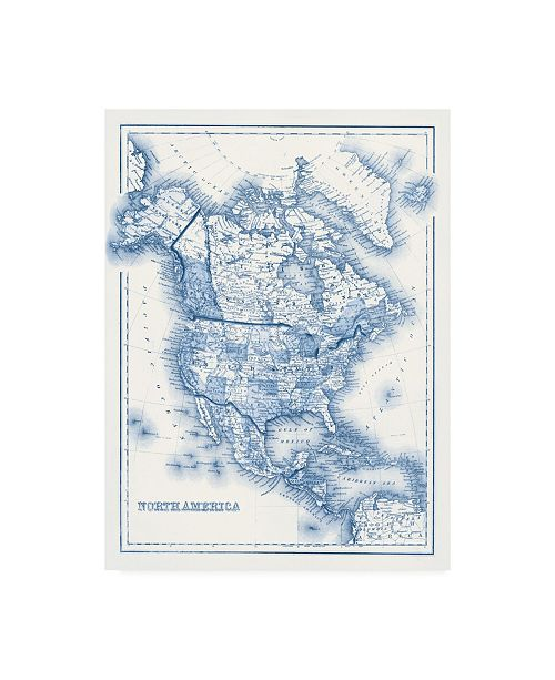 "Trademark Global Vision Studio North America in Shades of Blue Canvas Art - 27"" x 33.5"""