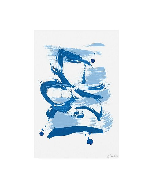 "Trademark Global Christina Long Blue Breeze I Canvas Art - 27"" x 33.5"""