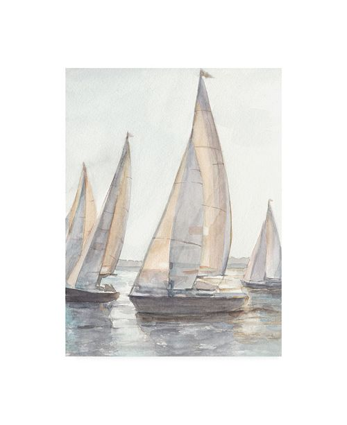 "Trademark Global Ethan Harper Plain Air Sailboats I Canvas Art - 15.5"" x 21"""