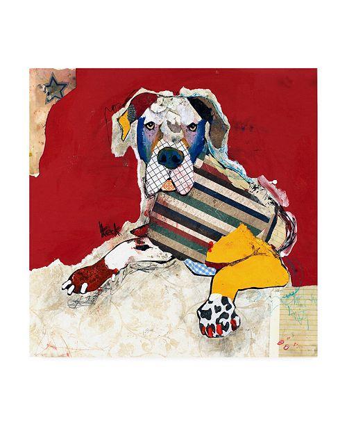 "Trademark Global Michel Keck Great Dane Abstract Canvas Art - 15.5"" x 21"""