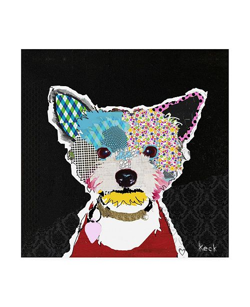 "Trademark Global Michel Keck Yorkshire Terrier III Canvas Art - 15.5"" x 21"""