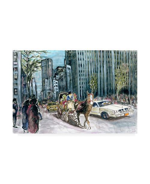 "Trademark Global Peter Potter New York th Ave Canvas Art - 15.5"" x 21"""
