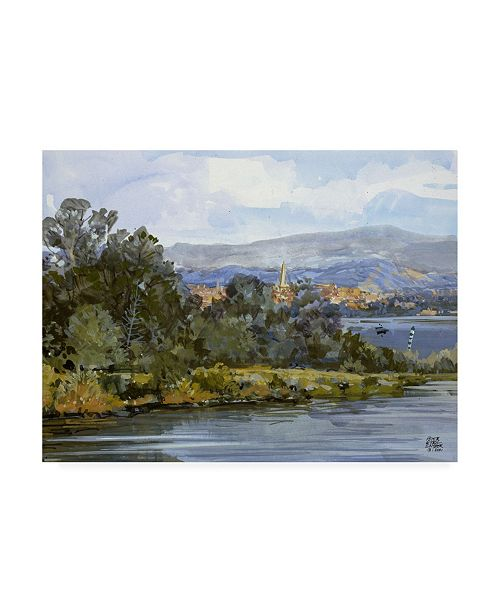 """Trademark Global Peter Snyder Avignon and Viviers Canvas Art - 27"""" x 33.5"""""""