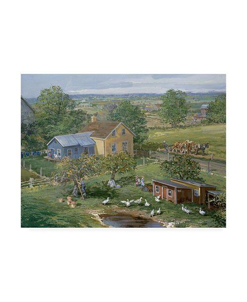 "Trademark Global Peter Snyder Small Farm Newton Canvas Art - 27"" x 33.5"""
