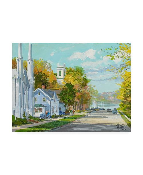 "Trademark Global Peter Snyder Down to the Harbour St. Andrews NB Canvas Art - 27"" x 33.5"""