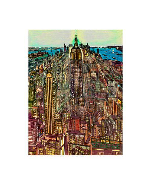 """Trademark Global Peter Potter Manhattan Abstract Canvas Art - 15.5"""" x 21"""""""