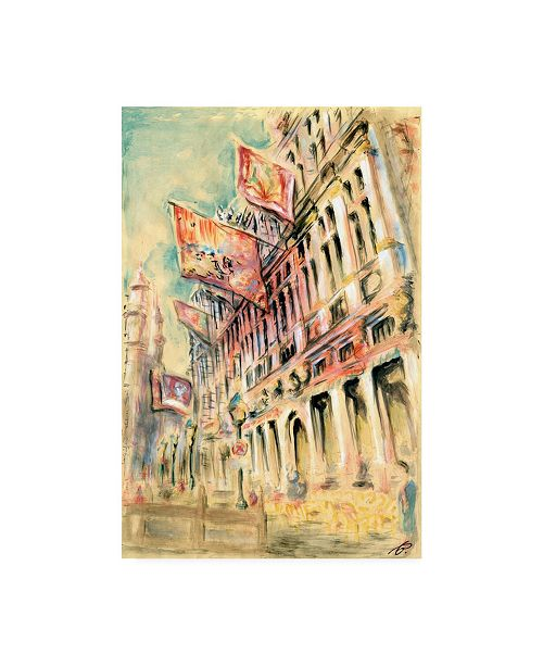 "Trademark Global Peter Potter Brussels Canvas Art - 19.5"" x 26"""