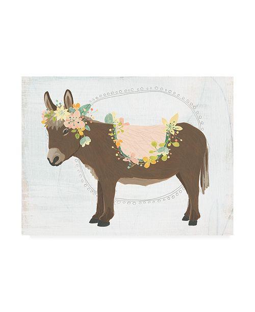 "Trademark Global June Erica Vess Dainty Burro I Canvas Art - 27"" x 33.5"""