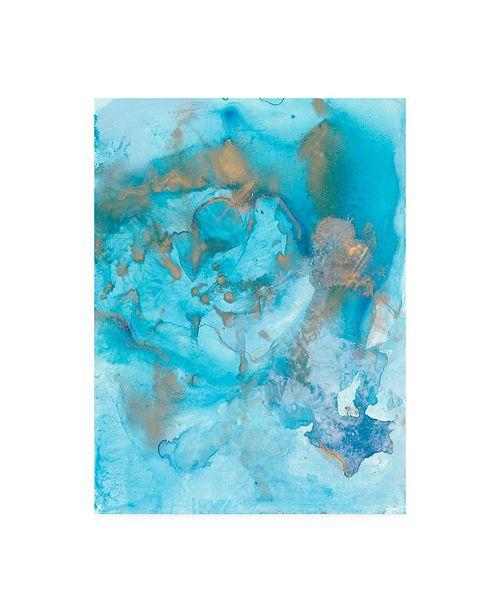 "Trademark Global Joyce Combs Aquarium Abstract I Canvas Art - 15.5"" x 21"""