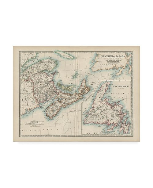 "Trademark Global Johnston Johnstons Map of Canada Canvas Art - 15.5"" x 21"""