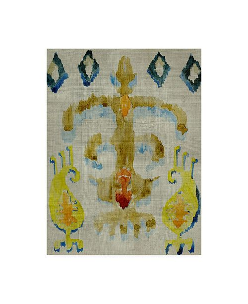"Trademark Global Chariklia Zarris Bohemian Ikat III Canvas Art - 15.5"" x 21"""