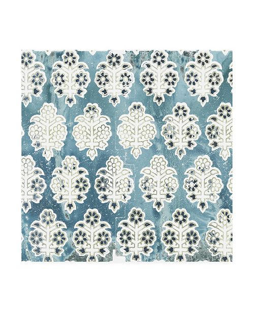 "Trademark Global June Erica Vess Flower Stone Tile VIII Canvas Art - 19.5"" x 26"""