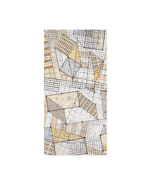"Trademark Global Nikki Galapon Funky Grid III Canvas Art - 15.5"" x 21"""