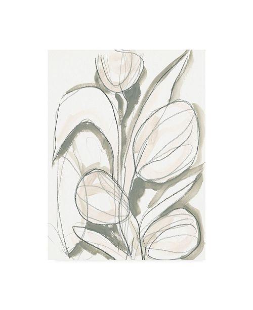 "Trademark Global June Erica Vess Neutral Tropical II Canvas Art - 27"" x 33.5"""