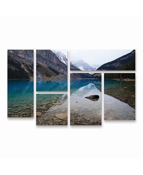 "Trademark Global Pierre Leclerc Lake Louise Multi Panel Art Set 6 Piece - 49"" x 19"""