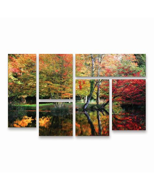"""Trademark Global Philippe Sainte-Laudy I'Ll be There Multi Panel Art Set 6 Piece - 49"""" x 19"""""""