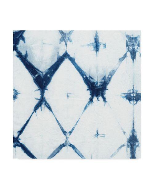 "Trademark Global Chariklia Zarris Indigo Tiles IV Canvas Art - 15"" x 20"""
