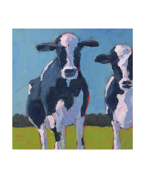 "Trademark Global Carol Young Cow Pals I Canvas Art - 15"" x 20"""