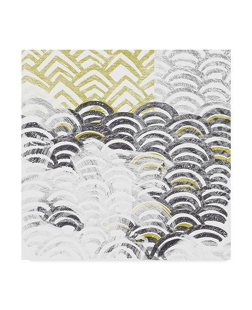 "Trademark Global June Erica Vess Block Print Abstract III Canvas Art - 27"" x 33"""