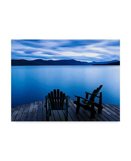 "Trademark Global James Mcloughlin Scene on the Water V Canvas Art - 37"" x 49"""