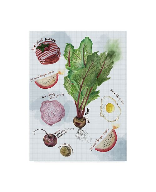 "Trademark Global Melissa Wang Food Sketches II Canvas Art - 20"" x 25"""