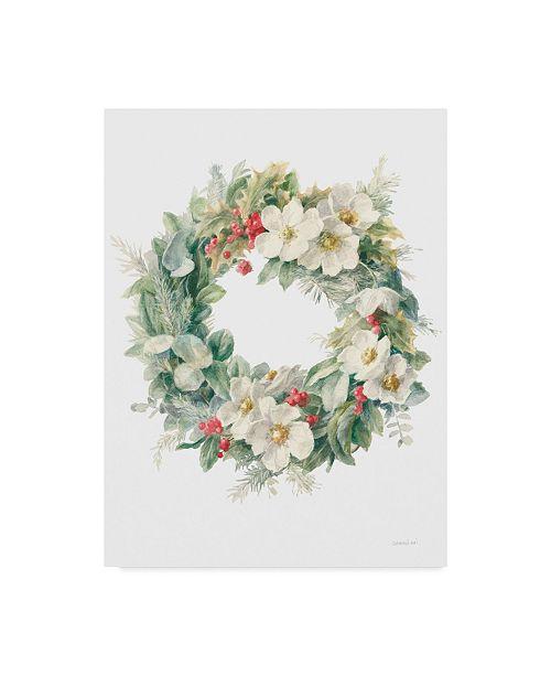 "Trademark Global Danhui Nai Floursack Holiday X Canvas Art - 37"" x 49"""