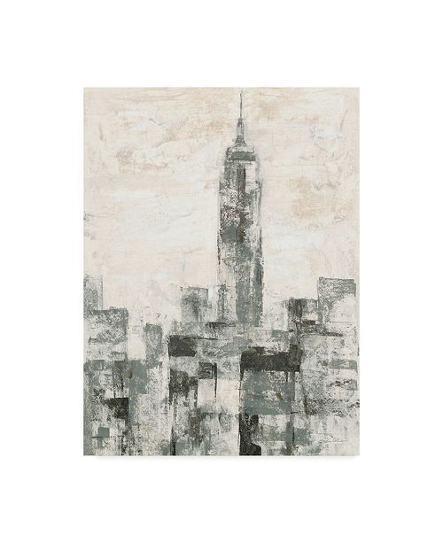 "Trademark Global Silvia Vassileva Manhattan Neutral Ii Crop Canvas Art - 37"" x 49"""