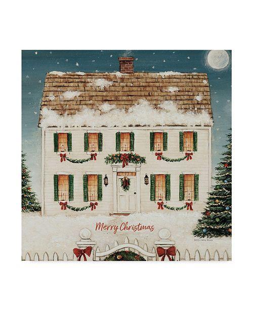 "Trademark Global David Carter Brown Merry Lil House Sq Merry Christmas Canvas Art - 15"" x 20"""
