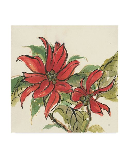 "Trademark Global Chris Paschke Poinsettia II Canvas Art - 15"" x 20"""
