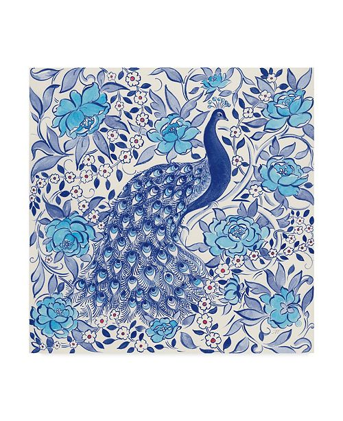 "Trademark Global Miranda Thomas Peacock Garden III Canvas Art - 15"" x 20"""