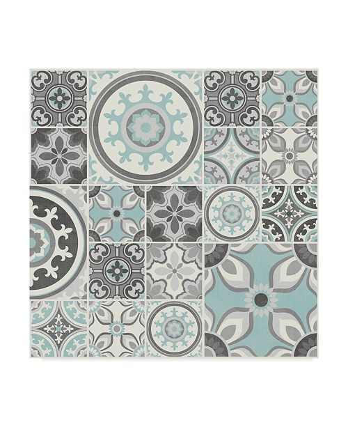"Trademark Global Diane Kappa Suzanni Tile I Canvas Art - 27"" x 33"""