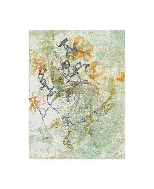 """Trademark Global Jennifer Goldberger Washed Floral I Canvas Art - 37"""" x 49"""""""