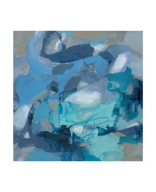 "Trademark Global Christina Long Abstract Blues I Canvas Art - 27"" x 33"""