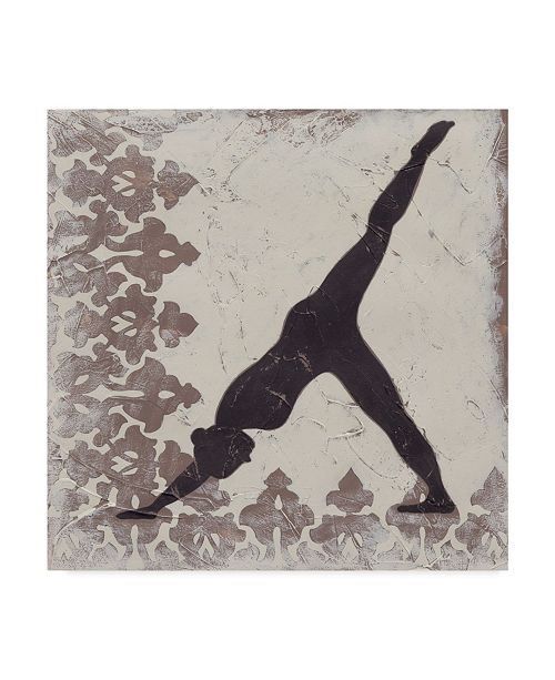 "Trademark Global Chariklia Zarris Yoga Bliss III Canvas Art - 27"" x 33"""