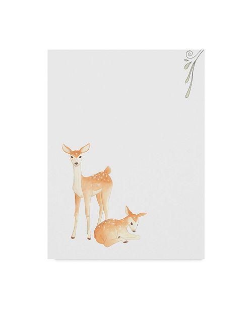 "Trademark Global June Erica Vess Baby Animals VI Canvas Art - 20"" x 25"""