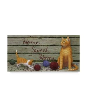 "Marcia Matcham Home Sweet Home Cats Canvas Art - 37"" x 49"""