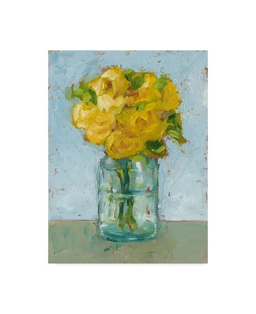"Trademark Global Ethan Harper Impressionist Floral Study III Canvas Art - 37"" x 49"""