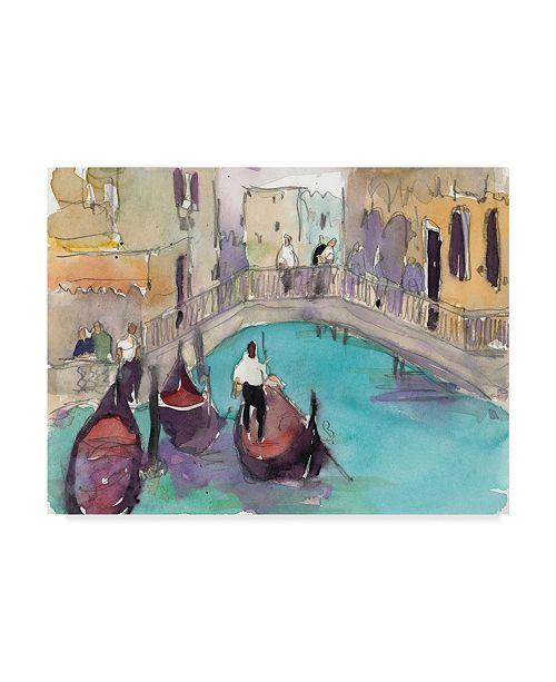 "Trademark Global Samuel Dixon Venice Plein Air V Canvas Art - 37"" x 49"""
