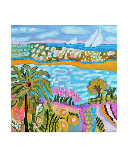 """Trademark Global Karen Fields Palm Retreat Canvas Art - 15"""" x 20"""""""