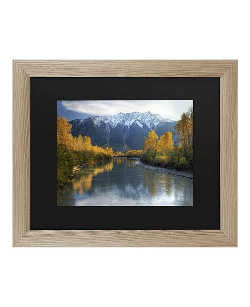 "Trademark Global Pierre Leclerc Autumn River Matted Framed Art - 37"" x 49"""