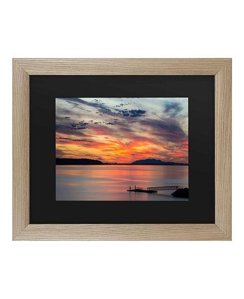 """Trademark Global Pierre Leclerc Sunset Pier Matted Framed Art - 37"""" x 49"""""""