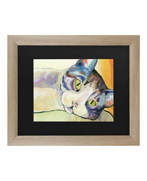 """Trademark Global Pat Saunders-White Sunbather Matted Framed Art - 37"""" x 49"""""""