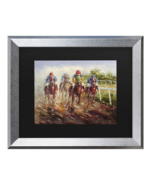 "Trademark Global Masters Fine Art Kentucky Derby Matted Framed Art - 27"" x 33"""