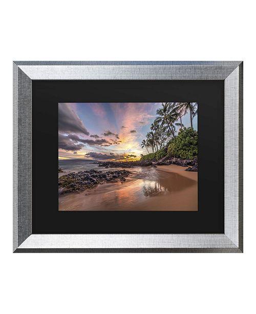 """Trademark Global Pierre Leclerc Hawaiian Sunset Wonder Matted Framed Art - 27"""" x 33"""""""