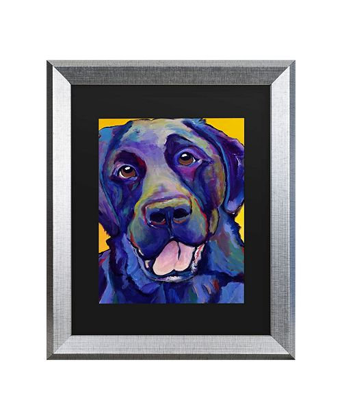 "Trademark Global Pat Saunders-White Buddy Matted Framed Art - 27"" x 33"""