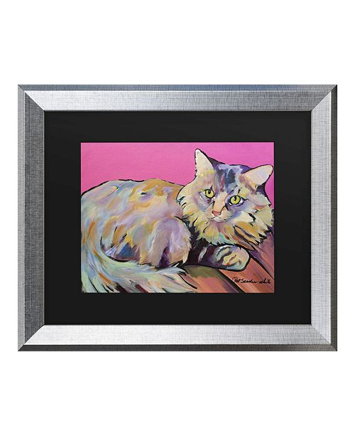 "Trademark Global Pat Saunders-White Catatonic Matted Framed Art - 27"" x 33"""