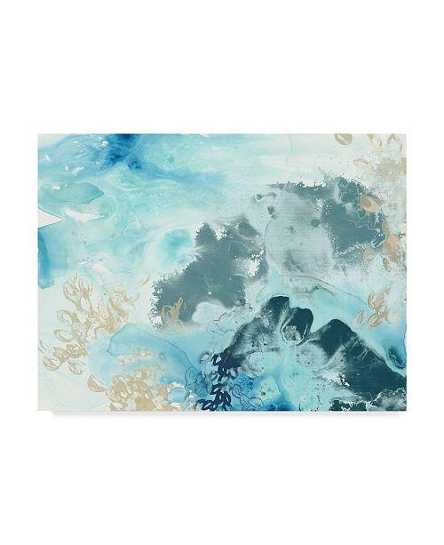 """Trademark Global June Erica Vess Aqua Wave Form I Canvas Art - 20"""" x 25"""""""